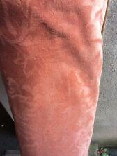 5m Deep Peach Floral Self print Dralon Flame Retardant Upholstery Fabric