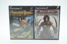 Prince of Persia Sands of Time & Warrior Within PS2 Game Lot Ubisoft Complete