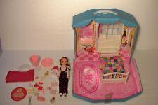 Vintage Lisa Doll Takara Blue Bedroom Playset Carrying Case & Furniture Japan