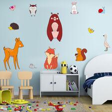 Nordic Forest Animal Wall Sticker Baby Kids Room Playroom Cartoon Wall Art Decal