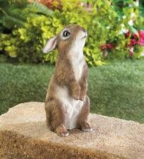 standing baby Bunny Rabbit outdoor yard garden lawn art decor statue sculpture