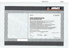 NAVIS Schiffahrts- und Speditions AG Hamburg 1995 alte DM Aktie Hamburger Hafen