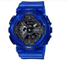 Casio Baby-G * BA110CR-2A Aqua Planet Translucent Ocean Water Blue Watch Women