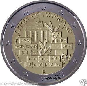 Münze 2 euro Gedänk - VATIKAN 2014 - Fall der Berliner Mauer - BU