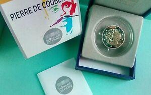 "France 2013   2 Euro Commémorative  ""Coubertin""  BE  / Belle Epreuve"