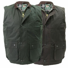 Mens Wax Quilted Gilet Bodywarmer | Waistcoat | Hunting | Outdoor | High Mount