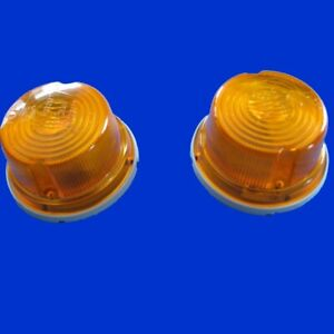 2x Hella Blinker Blinkleuchte Aufbaublinker rund 80mm K 23267 , 2BA001259-611