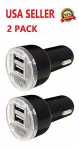 2X High Speed Fast Dual USB Car Charger 2.1 Amp For Apple iPhone Samsung LG BLK