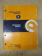 27zts And 35zts Excavator Operators Manual