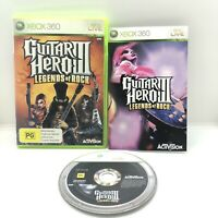 Guitar Hero 3 Legends of Rock Xbox 360 Pal Game Complete With Manual