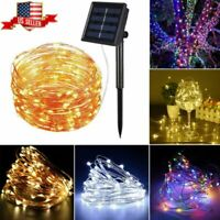 8 Modes 100LED Solar String Light Copper Wire Waterproof Outdoor Fairy Lighting