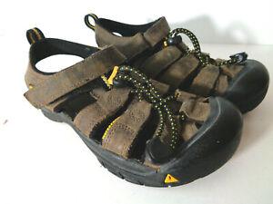 KEEN Kids US 1 EU 33 Newport H2 Brown Leather Washable Waterproof Sandals Shoes