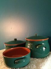 Oven Bakeware Hunter Green/Terra Cotta (5) Piece Set
