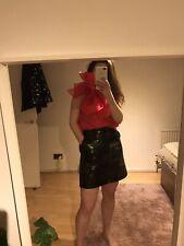 H&M Trend Shiny Wet Look Zip Up A Line Skirt