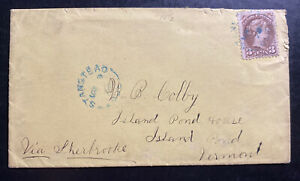 1878 Stanstead Canada Vintage Cover To Island Pond VT USA