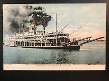Vintage Postcard>1908>Mississippi River Steamer>St. Louis>Missouri