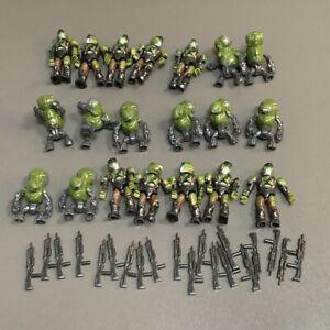 Lot 20 Mega Bloks Construx Halo UNSC SPARTAN MASTER CHIEF Figures toys & Gun #3