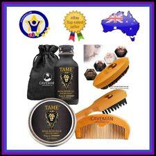 BEARD GROWTH KIT Oil Balm Wax Soap Beard Comb Brush Grooming Care Kit Set