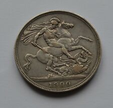 More details for 1900 silver crown victoria nice grade