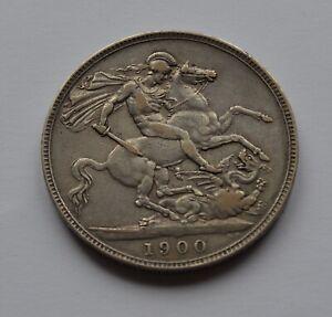 1900 Silver Crown Victoria Nice Grade