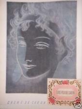 PUBLICITÉ 1952 CRÈME DE CARON SOUS-POUDRE CARON - ADVERTISING
