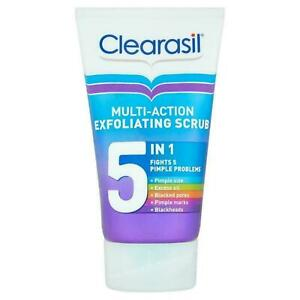 Clearasil 5 in 1 Multi-Action Exfoliating Scrub for Oily, 150ml