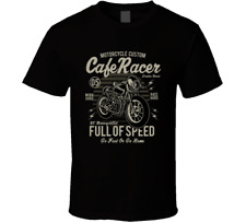 Motorcycle Cafe Racer Tee American Sport Camp Speed Adventure Men's T-Shirts New
