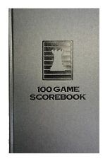 HARDCOVER CHESS SCOREBOOK - BATTLESHIP GRAY - 100 GAMES - MADE IN USA