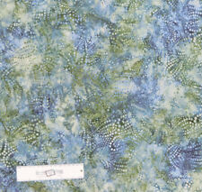 Patchwork Quilting Sewing Fabric Green Grey Spots Batik 50x55cm FQ New Material