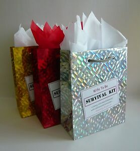 Wife To Be SURVIVAL KIT Novelty Wedding Present Unusual Unique Fun Gift Idea