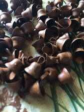 "(108) Primitive Rusty LIBERTY Bells 10mm 3/8 in 3/8"" SMALL Christmas Crafts"