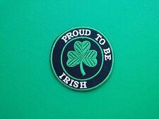NOVELTY BIKER COUNTRY FLAG SEW ON / IRON ON PATCH:- IRELAND IRISH