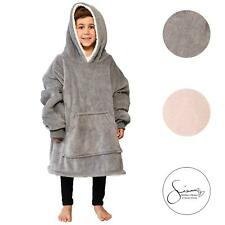 Sienna Kids Hoodie Blanket Oversized Ultra Plush Soft Sherpa Wearable Sweatshirt
