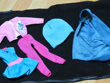 Vintage Barbie Doll Clothes Lot 5 Pink and Turquoise Very Good Condition Cute!