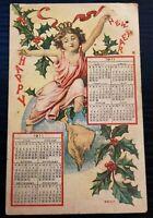 1911 Calendar~ Child On World New Years~Antique Postcard~ P17