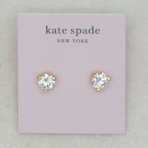 Kate spade jewelry CZ Cut crystals claw stud earrings 18k gold plated for women