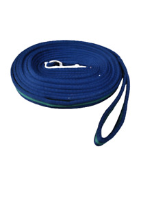 NEW Soft Cushion Horse Lunge Line Large Dog Training Lead  8 meter NAVY