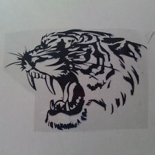 Car Sticker Reflective Decals TIGER Head Hood And Motorcycle Side Steller Black