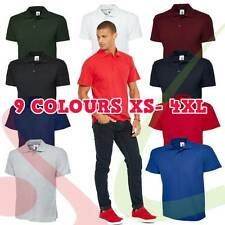 Uneek Unisex Men OLYMPIC Polo Shirt Work Wear Top Plain T-Shirt Short Sleeve Tee