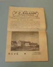 1945 Ancient Belgium Travel Magazine Program Shows History Poetry Photos Vintage