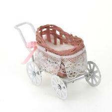 1:12 maison de poupée meubles miniatures STROLLER PRAM pour barbie cadeau jouet