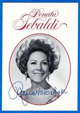 Renata Tebaldi Opera Soprano Hand Signed Autograph Advertisement Photo