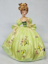 "Josef Original Butterfly Dress Girl holding Locket Tall 8 1/2"""