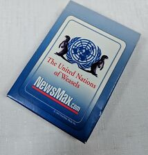 United Nations Axis of Weasels deck of playing cards unused 2003