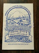 Irish Eyes with a hint of Garlic Millennium Edition #4694