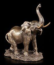Kleine Elefanten Figur - Veronese Statue Bronze-Optik Afrika Deko Safari