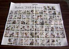 10-9-2001 Barry Bonds San Francisco Giants SF Chronicle Uncut HR Poster Sheet