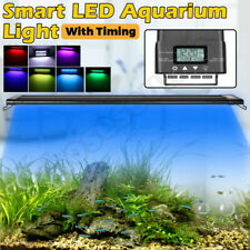 Aquarium LED Light 1ft /2ft /3ft /4ft Marine Aqua Fish Tank W/Timing 60-90-120CM