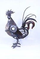 Scrap Metal Sculpture Rooster Chicken sculpture Steampunk Modern art