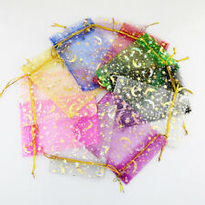100pcs Organza Moon Star Stretchable Bags Gift Packaging Display Jewelry Pouyu